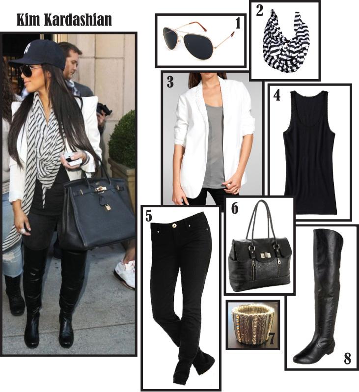 Kim Kardashian - White Blazer