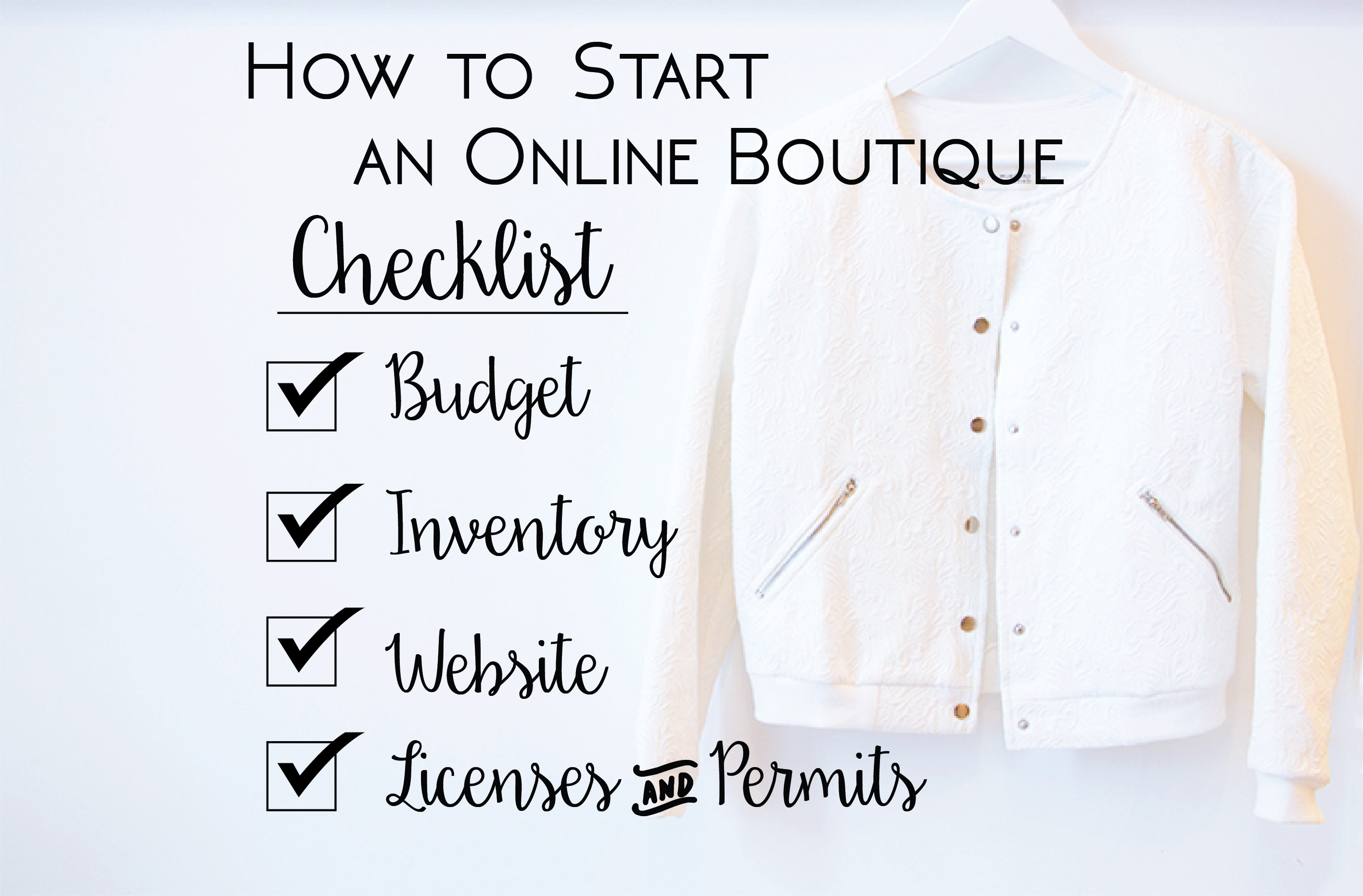 How To Start an Online Boutique Checklist